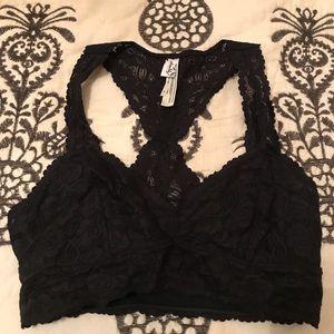 Free people Black lace bralette